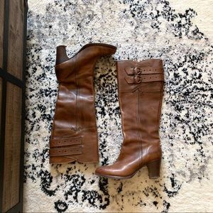 Frye brown leather boots 6